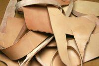 kožené odřezky - hlazenice